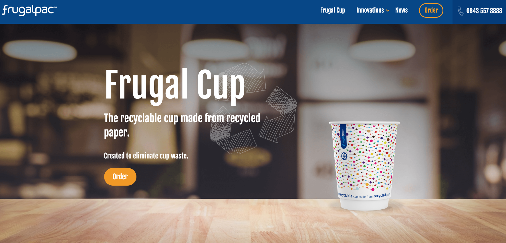15 minutes to enjoy your coffee, eight minutes to recycle the cup