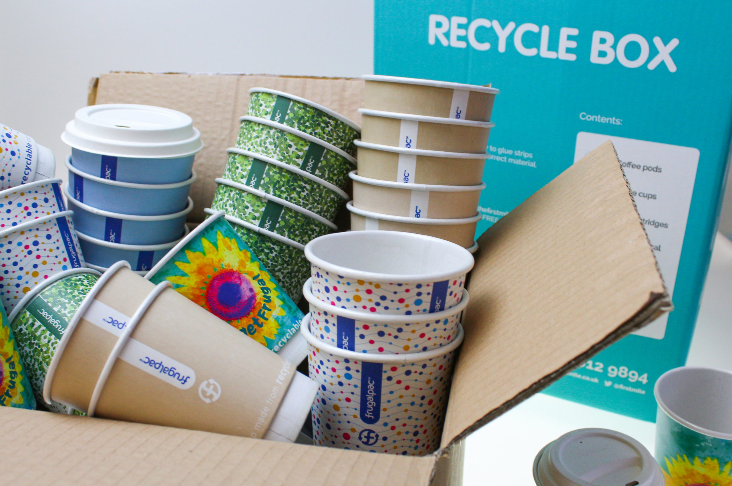 Frugalpac provides RecycleBox service for its Frugal Cup customers